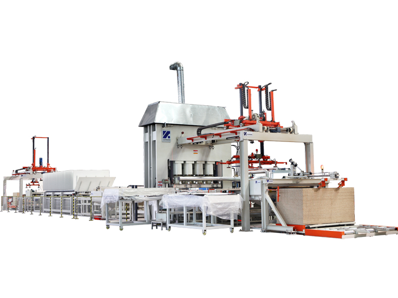 High speed Melamine lamination press line